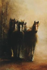 Immagine olio su legno telato cm. 35X45