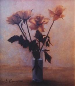 Rose olio su tela cm. 50X60